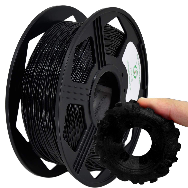 YOYI 3D Printer Filament,85A TPU Filament 1.75mm,Flexible Filament, 0.8KG Spool,Dimensional Accuracy +/- 0.02 mm,100% Virgin Raw Material (Black)
