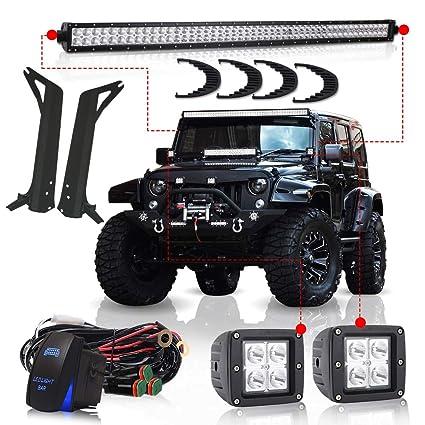 Prime Amazon Com Turbosii For 1997 2006 Jeep Wrangler Tj 50Inch Led Light Wiring Database Rimengelartorg