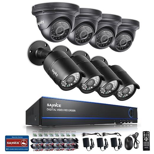 3 opinioni per SANNCE KIT Videosorveglianza AHD DVR 8 Canali 1080P Video Sorveglianza