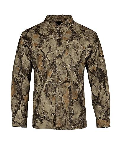 30469bb63a246 Natural Gear Tactical Bush Shirt, Camo Long Sleeve Shirt with a 7-Button  Front