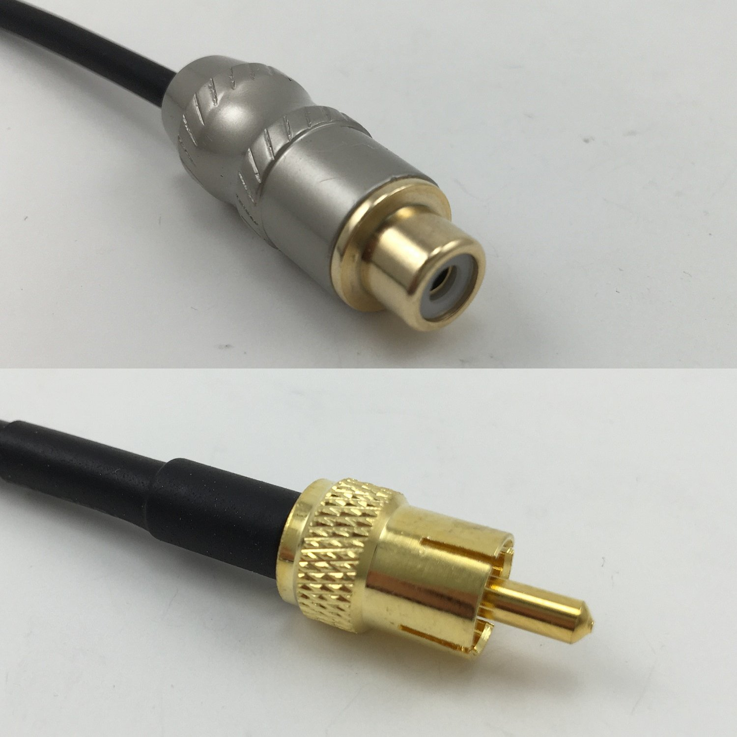 6 feet RG58 RCA FEMALE to RCA MALE Pigtail Jumper RF coaxial cable 50ohm Quick USA Shipping