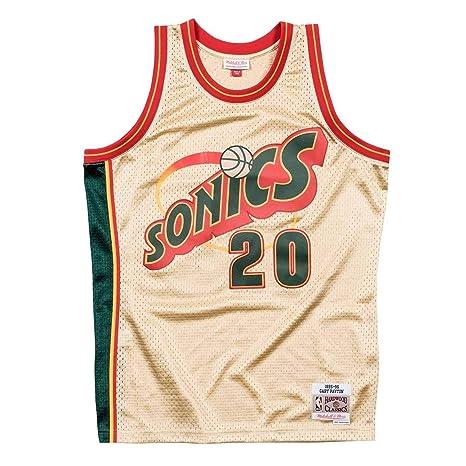 9310c4cbc7fe Mitchell   Ness Gary Payton  20 Seattle SuperSonics 1995-96 Gold Collection  NBA Jersey