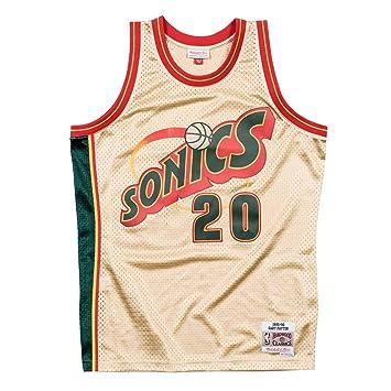 Mitchell   Ness Gary Payton  20 Seattle Supersonics 1995-96 Gold Collection  NBA Trikot 8716bb256