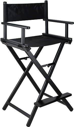 Sunrise JL009AB 29 Black Aluminum Director Chair