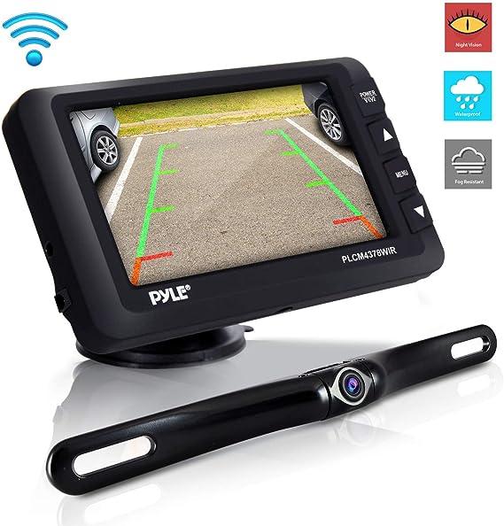 """Night Vision Parking Backup Camera Wireless Car Rear View Kit 4.3/"""" LCD Monitor"""