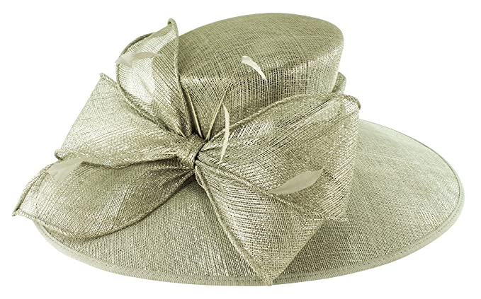 0def524e Failsworth Millinery Wide Brimmed Events Hat in Carbon-Silver, Size: Medium  (57cm): Amazon.co.uk: Clothing