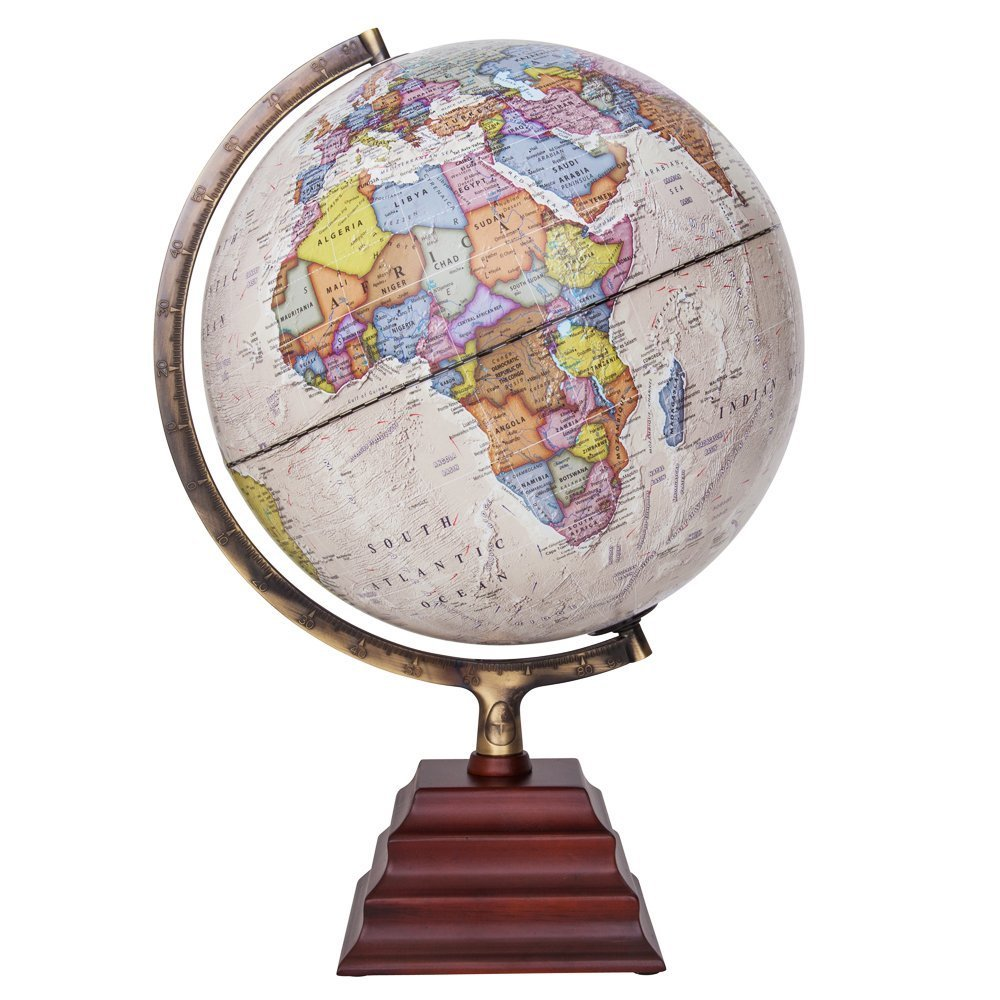Political Office Desktop//Classroom//Educational//Learning Globe for Kids /& Adults Great Gift Idea WP11015 Waypoint Geographic Peninsula Decorative World Globe by Ultimate Geographical Globe with Wooden Stand