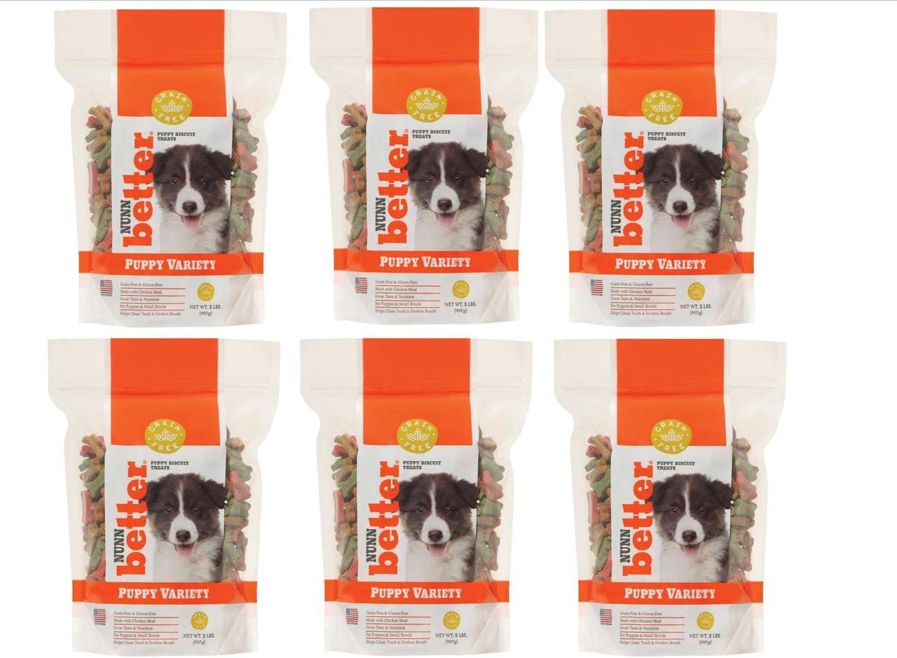 Nunn-Better Puppy Variety Biscuits 6 2 Lb Bag 12 lbs total