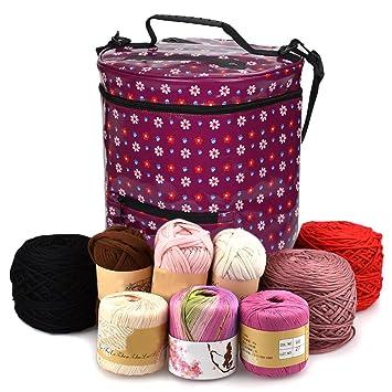 Premium Large Knitting Tote Bag - Garn Aufbewahrungstasche für ...