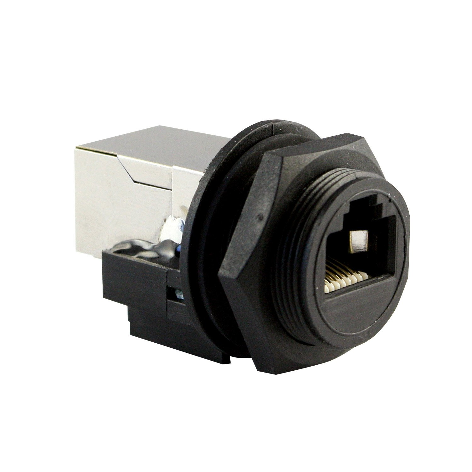 ASI ASICPICRJ45S RJ45 Panel Mount, Waterproof Connector (When Used with Cap), Shielded, Front Mount, Female, IP67, NEMA 6P, Cap Sold Separately