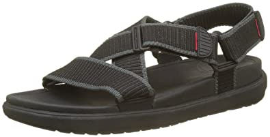 5b1fe1e0f39f3 Fitflop Men s Sling II Back-Strap Sandals in Webbing Open Toe (Black  Charcoal