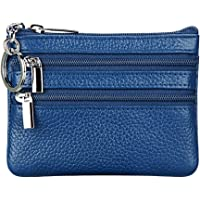 Women s Genuine Leather Coin Purse Mini Pouch Change Wallet with Key Ring 2ce0a996b1bb6