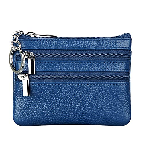 da1b4cd9f4d3 Women s Genuine Leather Coin Purse Mini Pouch Change Wallet with Key Ring