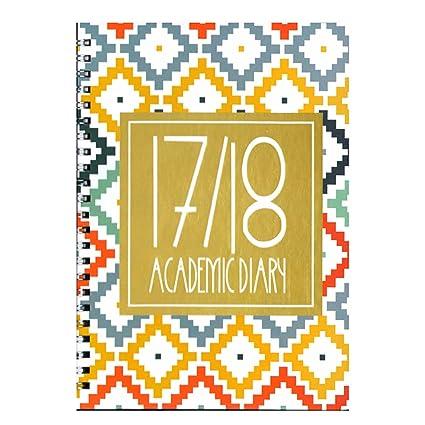 Agenda escolar 2017-2018, tapa dura y espiral, vista semanal ...