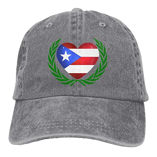 Puerto Rican Flag Olive Branches Denim Hat Adjustable Female Funny Baseball  Cap 88c8d4b765