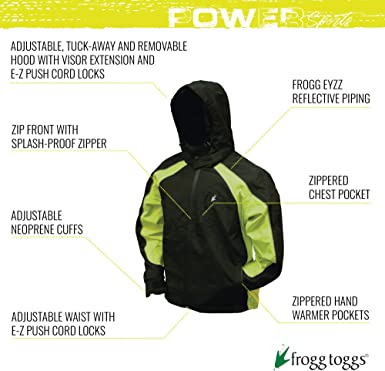 FROGG TOGGS Mens Toadz Kikker II High Visibility Reflective Waterproof Rain Jacket