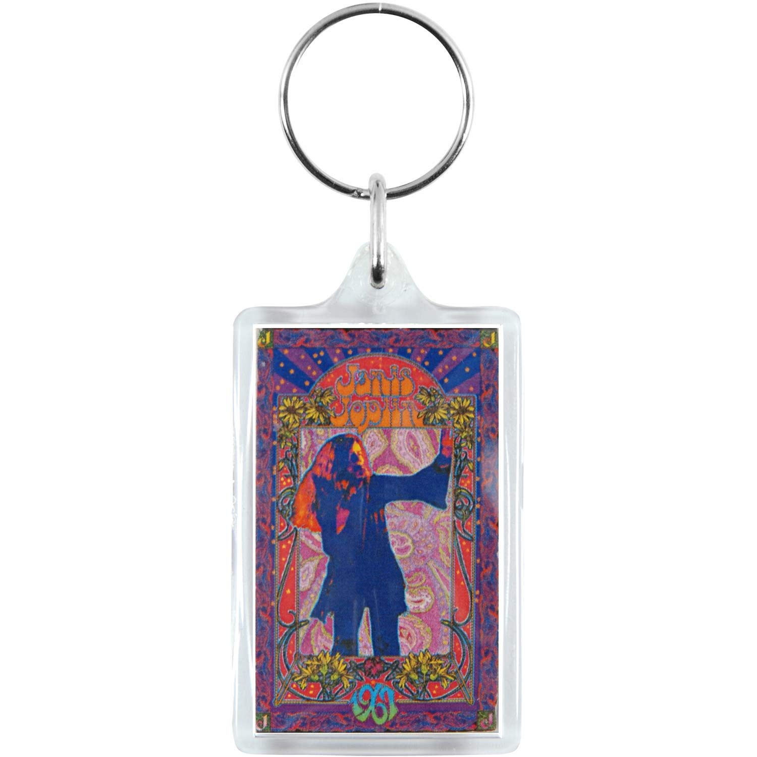 JOPLIN JANIS Poster, Official Licensed Artwork, 1' x 3.5' - Lucite High Quality KEYCHAIN 1 x 3.5 - Lucite High Quality KEYCHAIN Officially Licensed Merchandise & Original Artworks