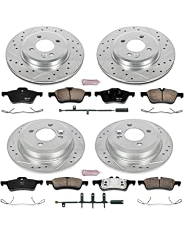Power Stop K5725 Front and Rear Z23 Evolution Brake Kit with Drilled/Slotted Rotors and