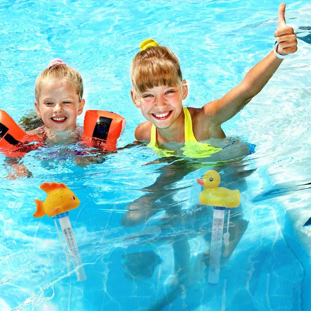 Cartoon-Tier-Display Baby mit Schnur f/ür Schwimmbad niedlich genau Innen-Au/ßentemperatursensor Schwimmendes Thermometer praktisch langlebig Heimbedarf