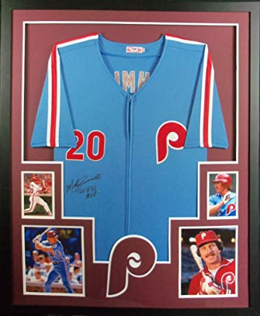 32d264599e2 Mike Schmidt Philadelphia Phillies Autograph Signed Custom Framed Jersey MVP  Inscribed PSA DNA Certified