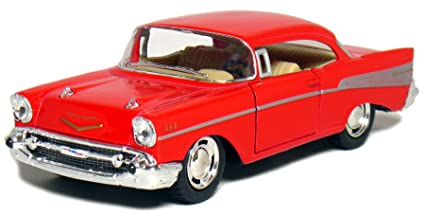 amazon com 5 1957 chevy bel air coupe 1 40 scale red toys games