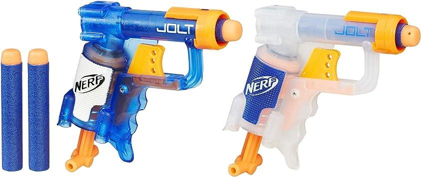 Hasbro B5817 Nerf N-Strike Jolt - Pack de 2 Pistolas de Juguete, Multicolor: Amazon.es: Juguetes y juegos