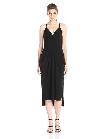 Bcbgeneration Women's Faux Wrap Dress, black, XX-Small