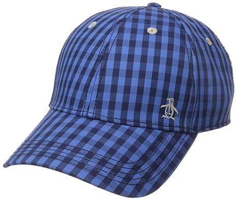 7d40e1d7a82 Original Penguin Men's Mini Check Baseball Cap, Directories Blue, One Size
