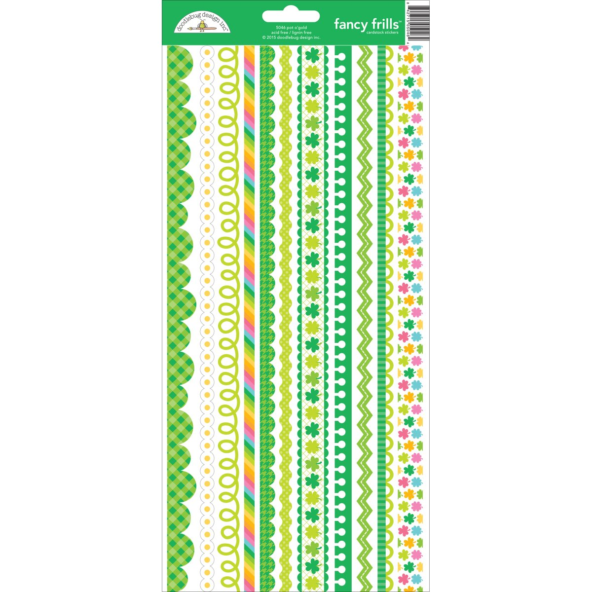 Doodlebug 5046 Pot O'gold Cardstock Stickers, 6 x 13, Fancy Frills by DOODLEBUG B018GFZZPU