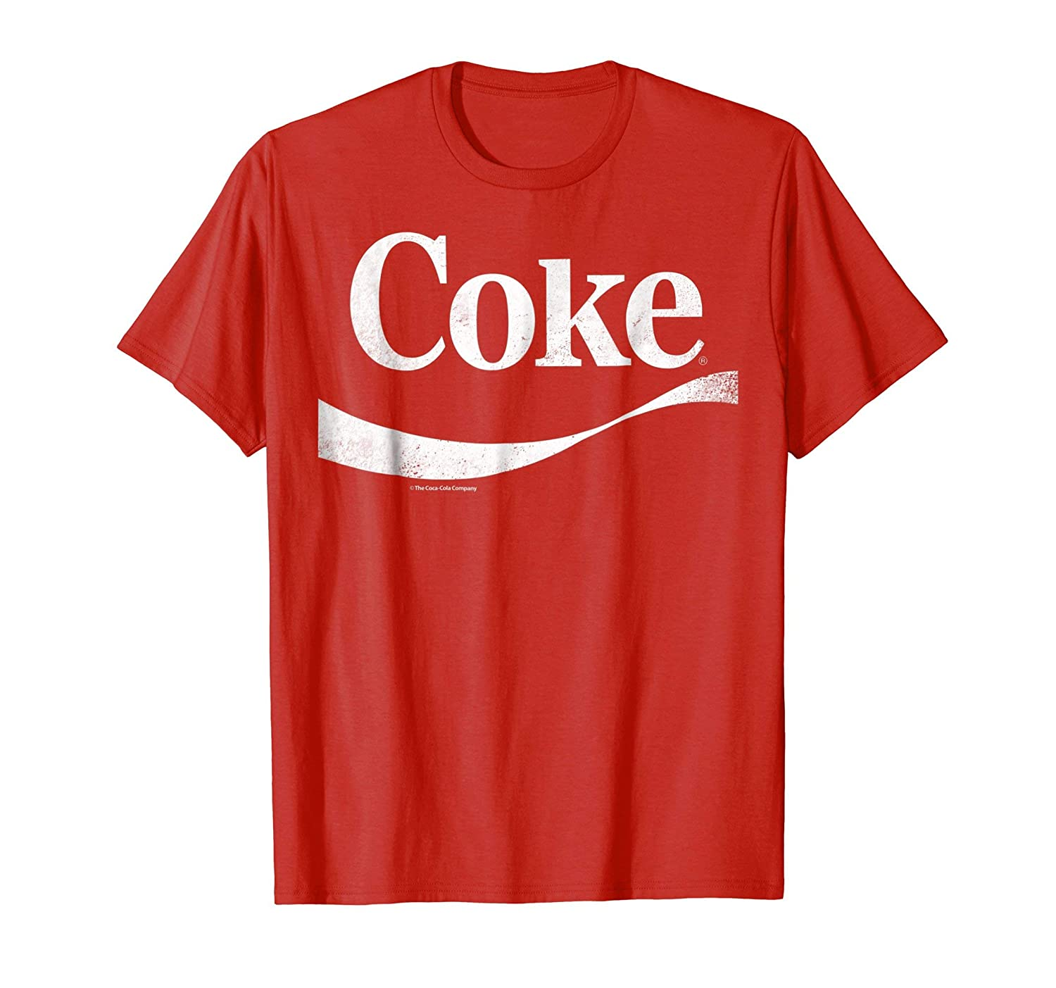 Vintage White Coke Logo Graphic T Shirt