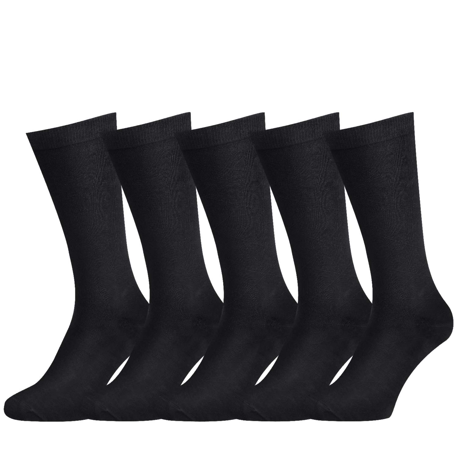 Mens Cotton Seamless Toe and Non-Binding Top Men Casual Dress Socks Fit Size 8.5-13 by Corlap Mens Dress Socks