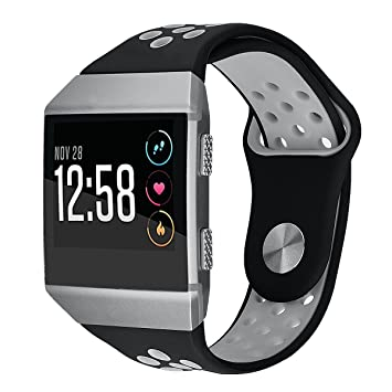 VIGOSS Compatible Fitbit Ionic Bands, Small Large Soft Silicone Band Breathable Replacement Strap Fitness Wristband for Fitbit Ionic Smartwatch