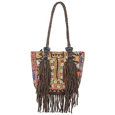 5abacbdaf6 Jewel Fab Artoutstanding Vintage Banjara Handmade Pure Leather Bag ...