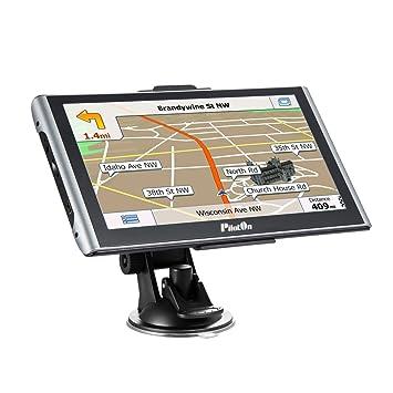 Navegador GPS para coche SAT NAV con 2 cargadores 7 pulgadas Pantalla táctil capacitiva de 8GB