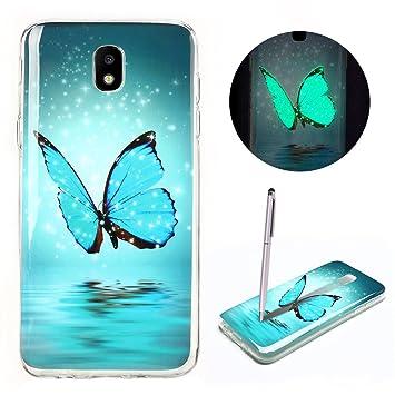 Funda Samsung J7 2017, CaseLover Carcasa Noctilucent Luminous TPU Silicona para Samsung Galaxy J7 2017 J720 Ultra Delgado Suave Fluorescente Efecto ...