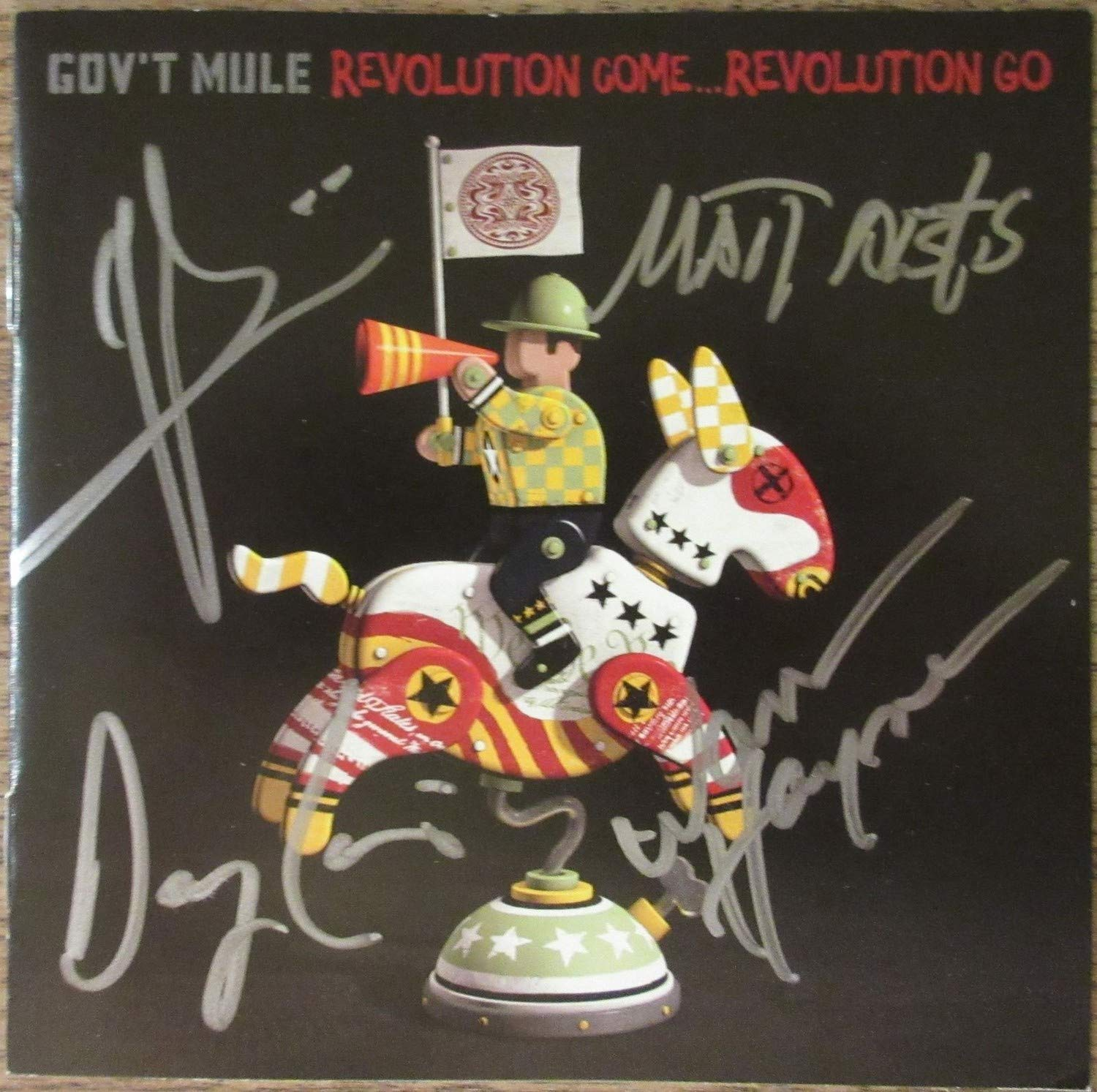 Gov'T Mule Band Autographed Signed By 4 Cd Booklet Beckett Authentic
