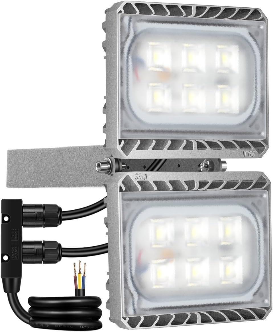 GOSUN® Foco proyector LED 60W para exteriores, equivalencia SAP ...