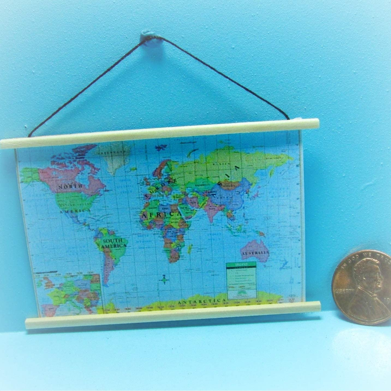 Miniature Dollhouse FAIRY GARDEN Accessories Fairy Map