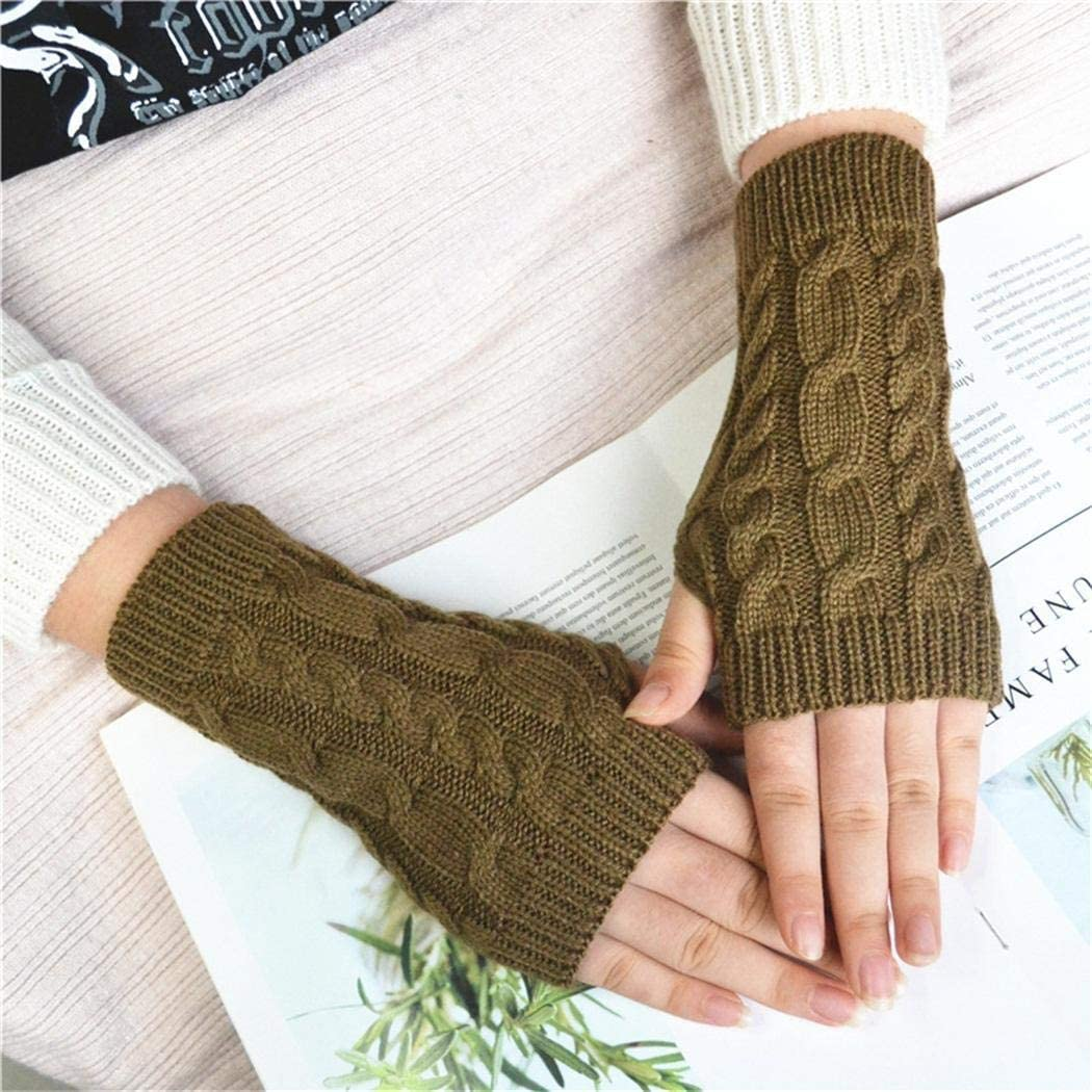 Twist Knitting Wool Mittens...