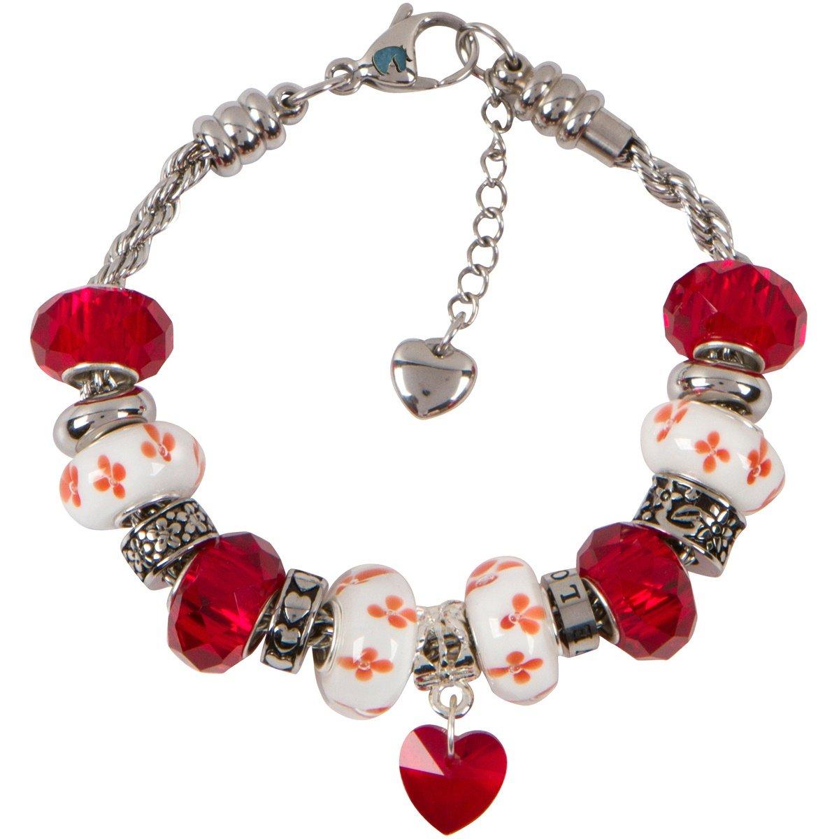Stainless Steel Love European Bead Love Charms For European Charm Bracelets