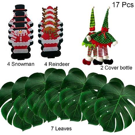 Amazon Com Kit 17 Pcs Christmas Table Decorations Table Runner