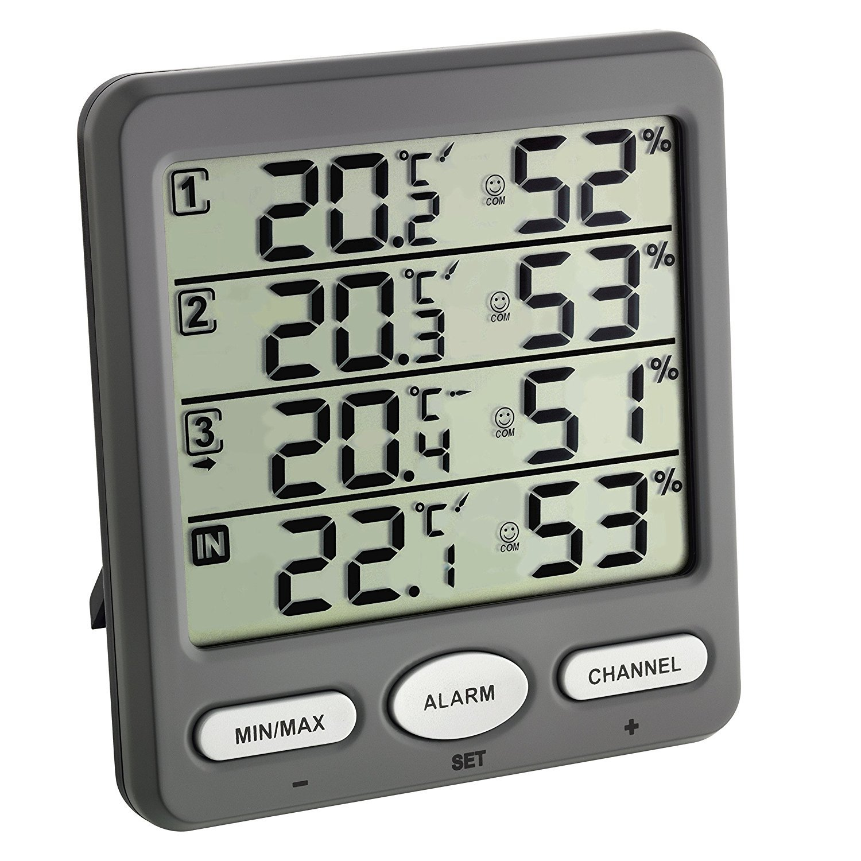 3 capteurs Thermo-hygrom/ètre sans fil TFA Klima-Monitor