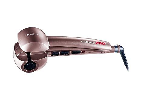 BaByliss Pro Miracurl Rose Gold - Rizador de pelo profesional 100% automático, 190°C-210°C-230°C, 3 tiempos de marcado para hacer ondas y rizos, ...