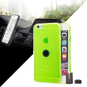Funda iPhone 6/6S con Soporte magnético para coche - Verde...