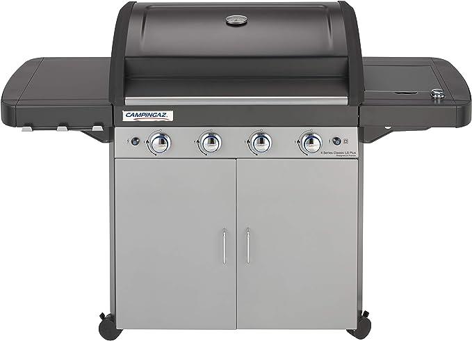 Campingaz 2000015644 4 Series Classic LS Plus - Barbacoa a gas, 4 quemadores de acero Inoxidable, 12.8kW