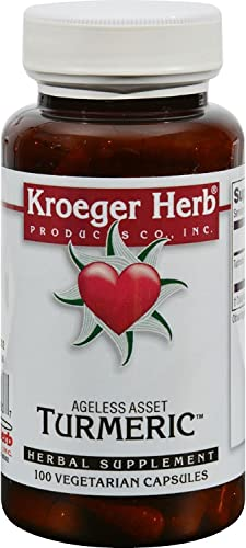KROEGER Herb Turmeric, 100 VCAP 2 pk