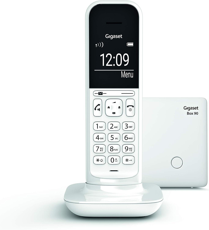 Gigaset CL390 - Teléfono fijo inalámbrico para casa, pantalla iluminada, agenda 150 contactos, blanco: Amazon.es: Electrónica