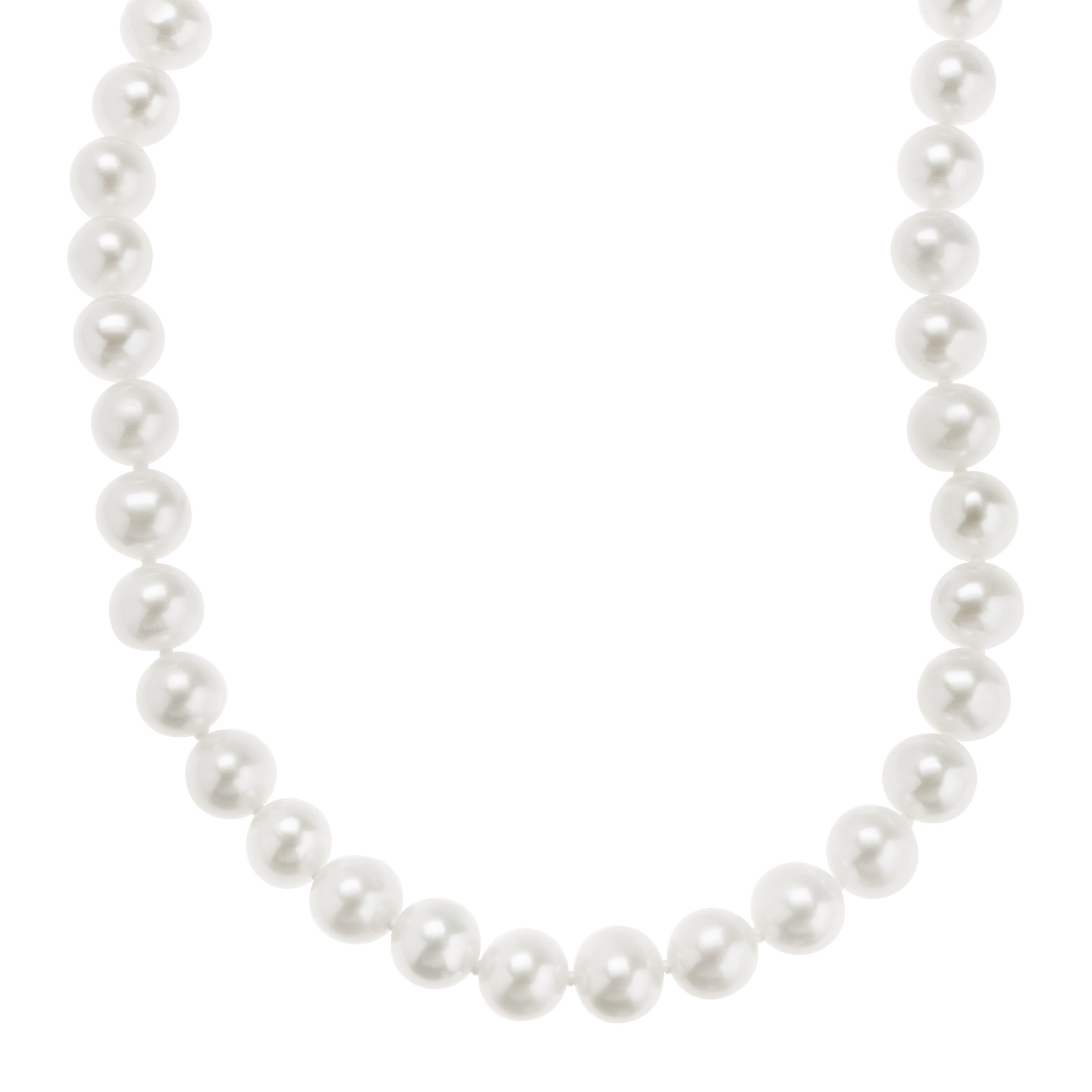 Honora 7-7.5 mm Freshwater Cultured Pearl Classic Strand Necklace in 10K Gold