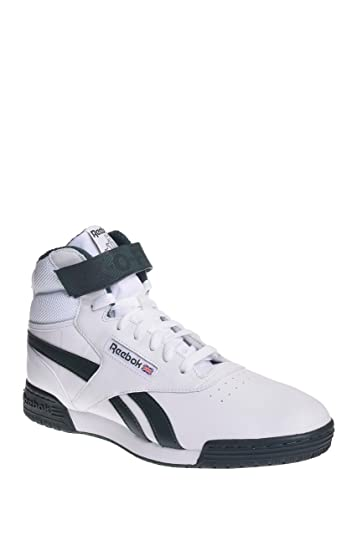 Reebok EX-O-Fit Clean HI S White/Dark Forest Hi Tops Mens