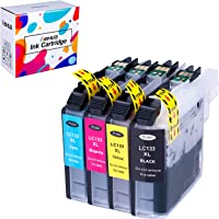 Weemay Compatible Brother LC133 XL LC133XL Ink Cartridge for Brother DCP-J152W J172W J4110DW J552D J752D MFC J470DW J475DW 870DW J650DW MFC-J6520DW MFC-J6720DW MFC-J6920DW Printers (Black, Cyan, Magenta, Yellow)
